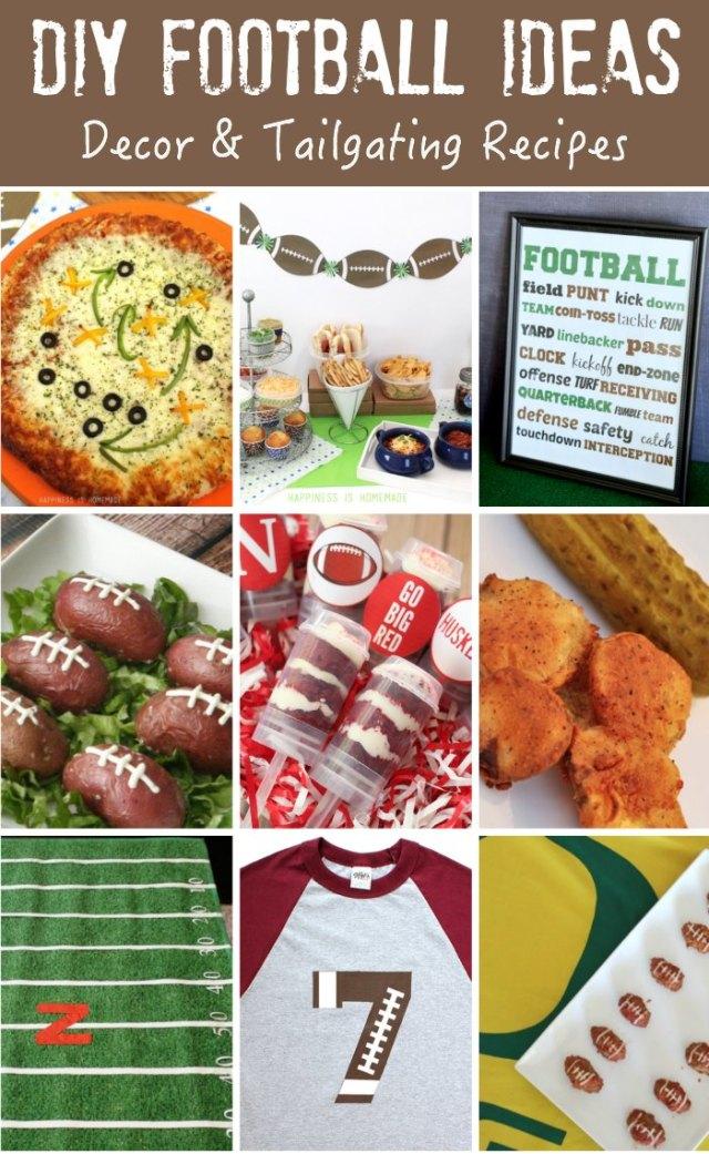 DIY Football Decor & Recipes