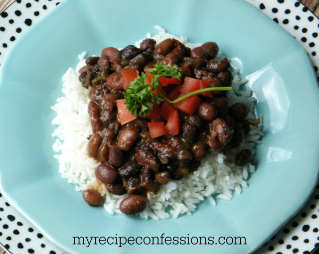 crock pot black and red beans