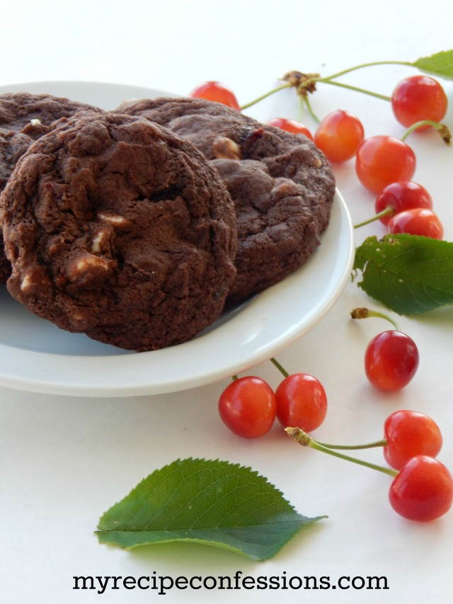 Double Chocolate Cherry Cookies1