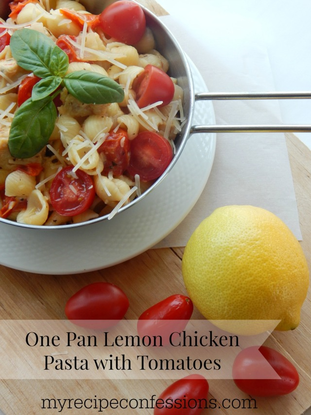 One pan lemon chicken pasta