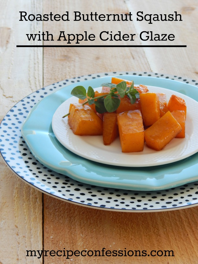 Roasted Butternut Squash with Apple Cider Glaze