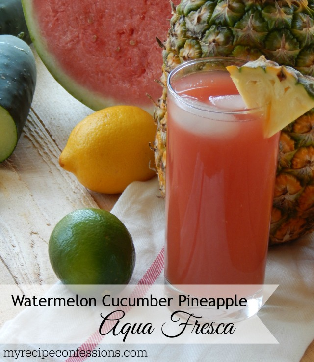 Watermelon Cucumber Pineapple Aqua Fresca