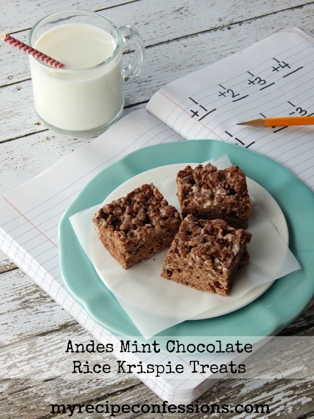 Andes Mint Chocolate Rice Krispie Treats