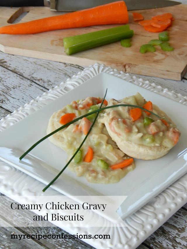Biscuits and Chicken Pot Pie Gravy