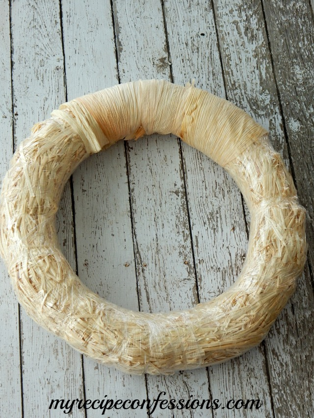 Corn Husk Wrapped Wreath