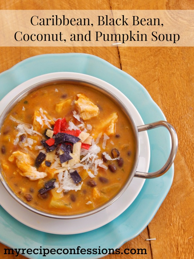 Caribbean Black Bean, Coconut, and Pumpkin Soup