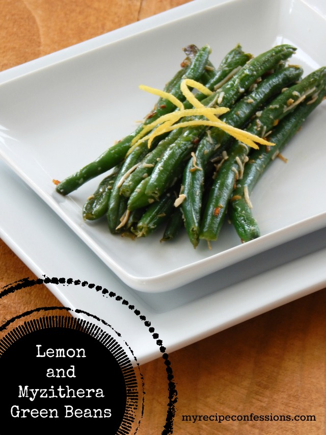 Lemon and Myzithera Green Beans