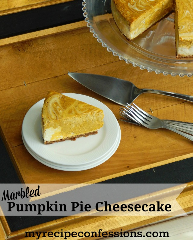Marbled Pumpkin Pie Cheesecake