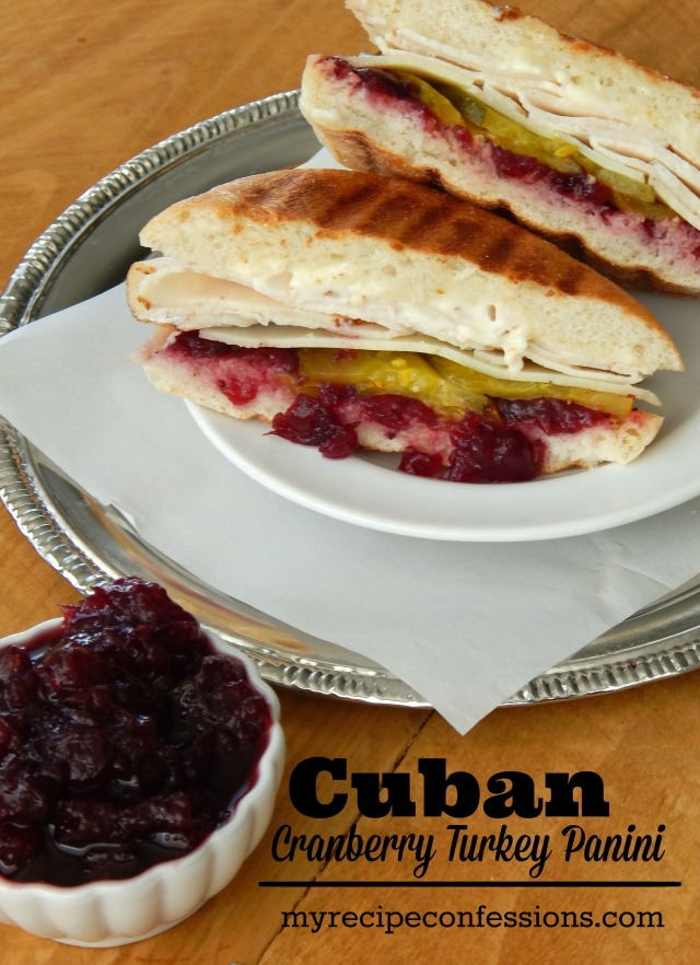 Cuban Cranberry Turkey Panini